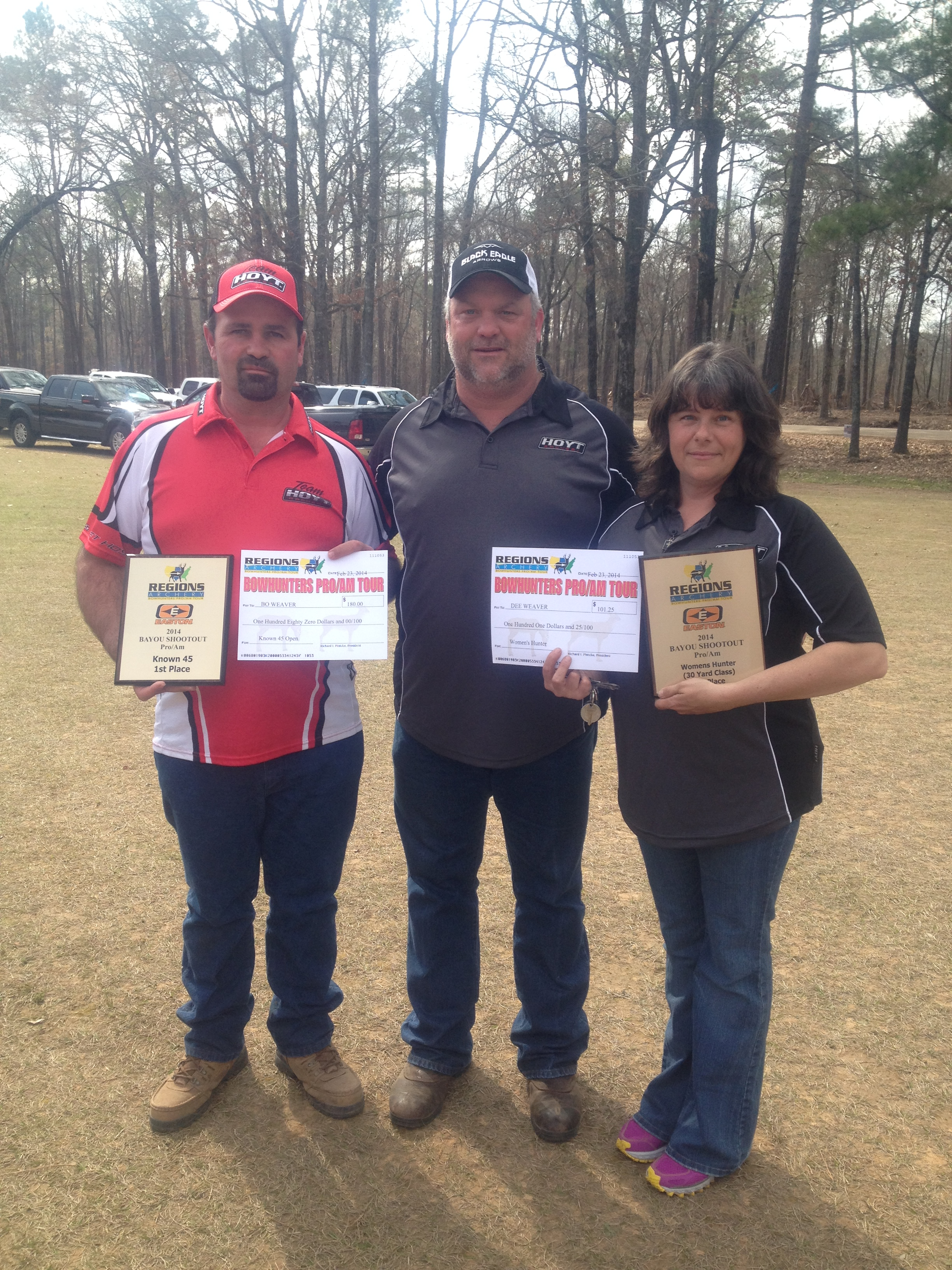 Congratulations to Bo and Dee Weaver - 2014 winners of the Regions Archery Bayou Shootout in Men's Known 45 and Women's Hunter.